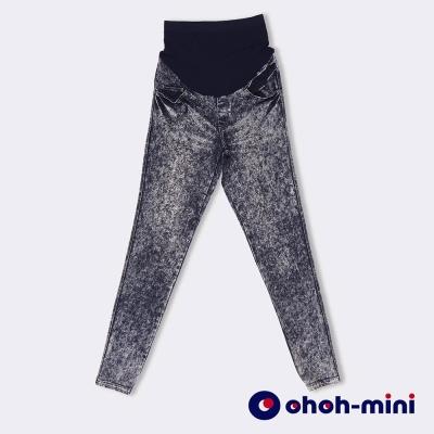 ohoh-mini-孕婦裝-造型立體壓折煙管長褲-2色