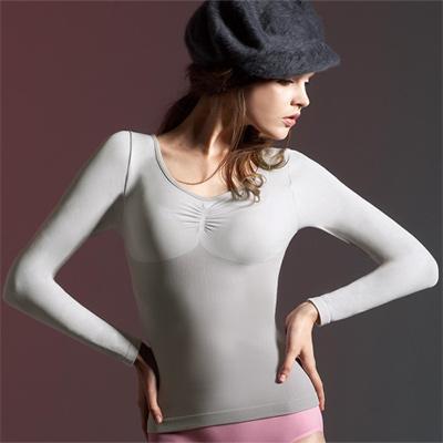 【曼黛瑪璉】美體輕塑衣  長袖輕塑衛生衣(錫灰)
