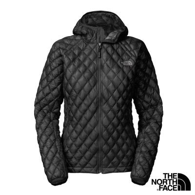 The-North-Face-女-ThermoBall-保暖兜帽外套-黑