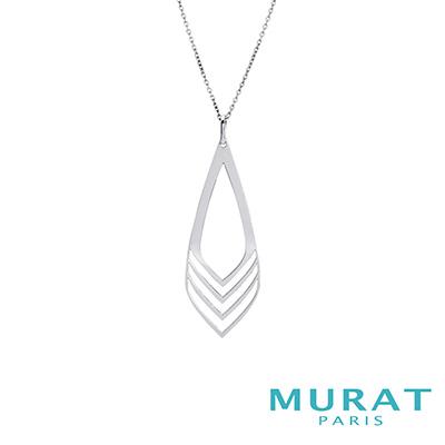 MURAT Paris米哈巴黎 摩登線條菱形長版項鍊(大)
