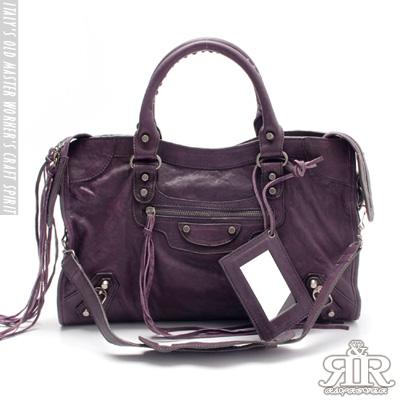 【2R】首爾熱賣全羊皮機車包-大版 (羅蘭紫)