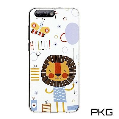 PKG ASUS Zenfone4 2017彩繪保護殼-創意彩繪-獅子