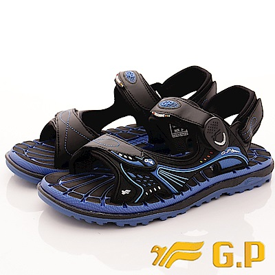 GP時尚涼拖-磁扣兩穿排水涼鞋-SE674-23藍(男段)