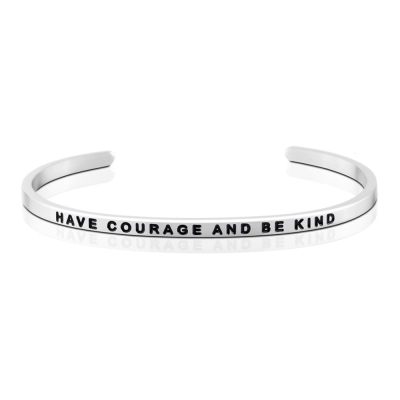 MANTRABAND Have Courage and Be Kind勇敢悄悄話銀色手環