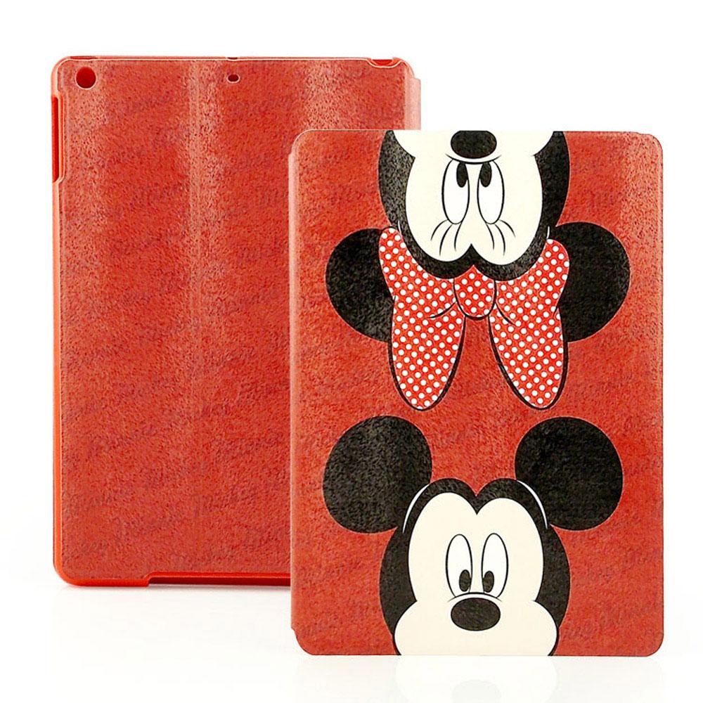 Disney Apple iPad Air 可愛米奇米妮彩繪側掀可立式皮套