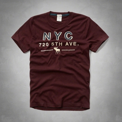 AF a&f Abercrombie & Fitch 短袖 T恤 酒紅 143