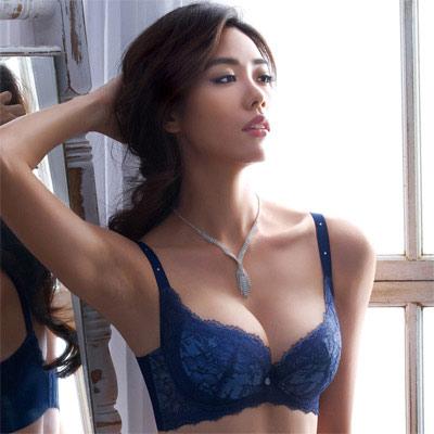 摩奇X-大V美背系列D-E罩杯內衣(瓷器藍)