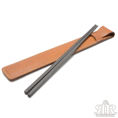 2R 頭層植鞣牛皮Craftsman手工環保筷袋(含筷子)