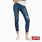 Levis 女款 711 中腰緊身窄管牛仔長褲 亞洲版型 彈性布料 刷破