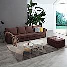 YKS-莫妮卡L型乳膠布沙發-獨立筒版(兩色可選)