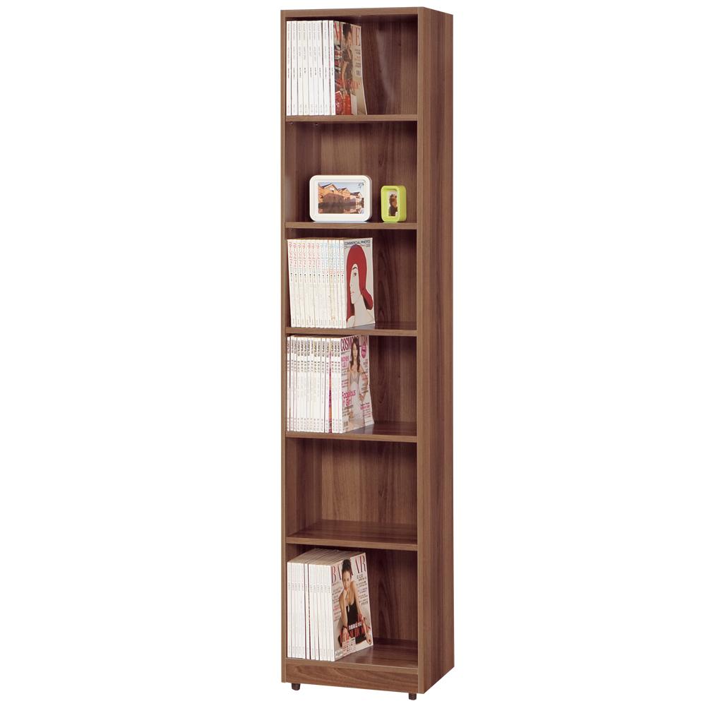 時尚屋 卡洛斯1.5尺淺胡桃開放式書櫃