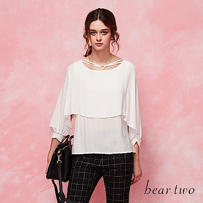 beartwo 飛鼠袖吊環造型上衣(二色)