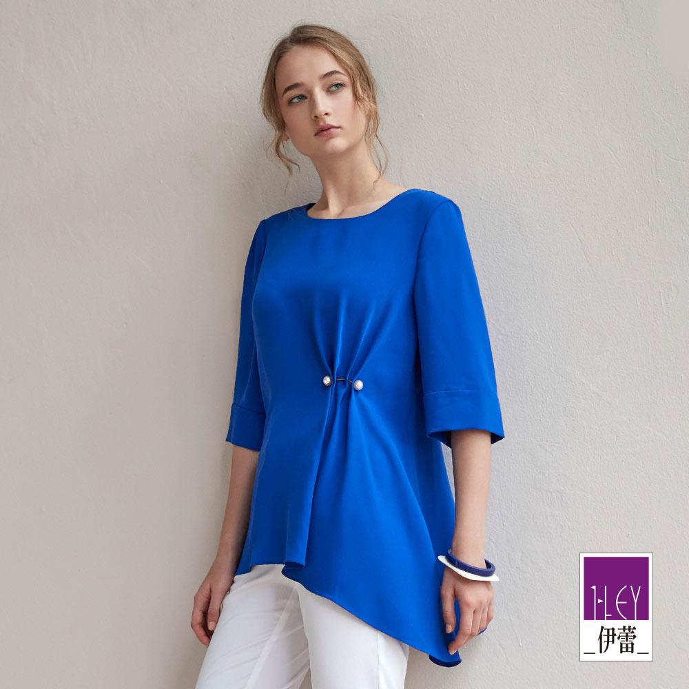 ILEY伊蕾 都會時尚青金石藍上衣(藍)
