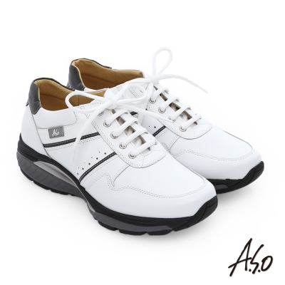 A.S.O 前彈性後避震IV 舒適超動力勁步男鞋 白
