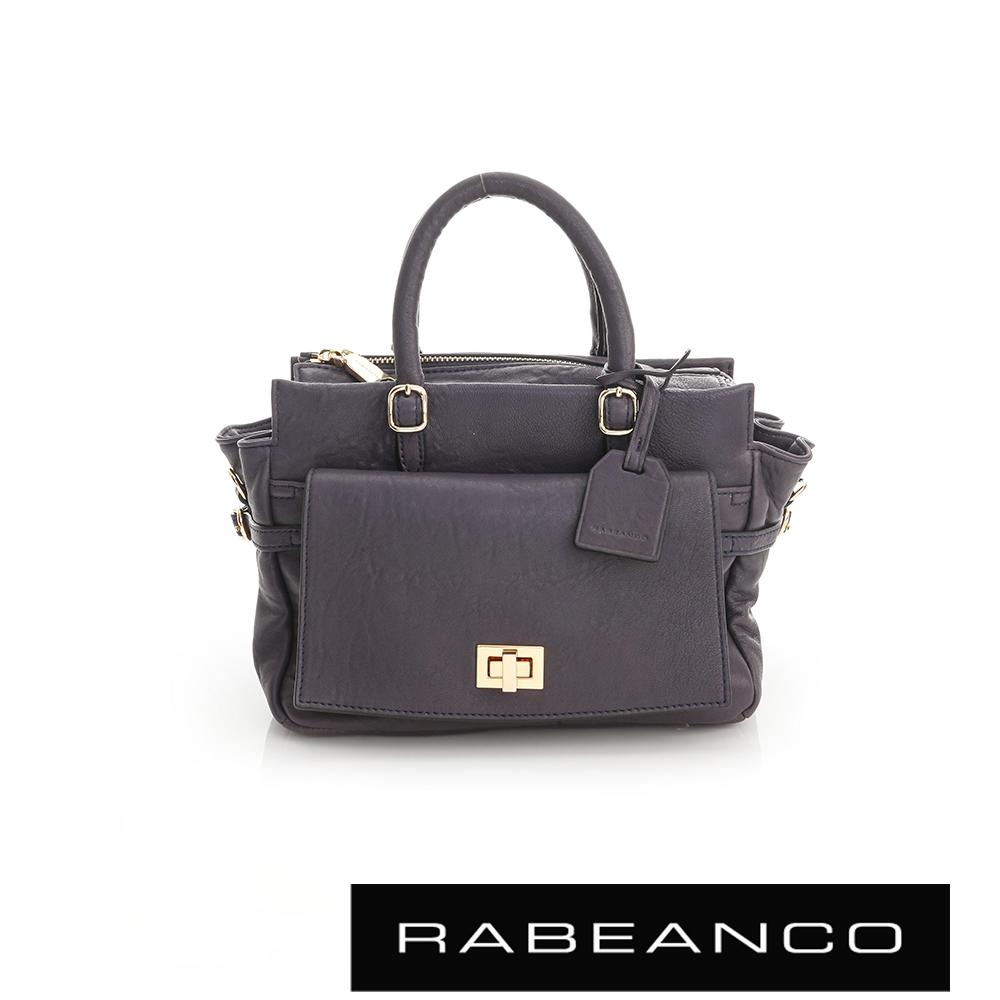 RABEANCO 簡約知性系列肩背手提包 - 墨水藍
