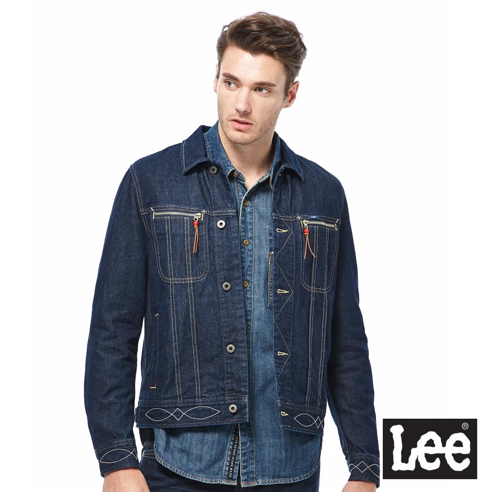 Lee 牛仔外套-男款-深藍