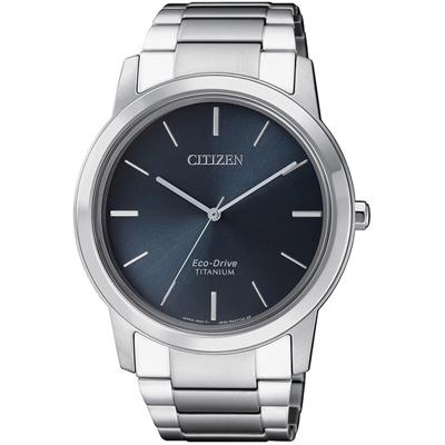 CITIZEN 星辰 GENT簡約時尚鈦金屬腕錶(AW2020-82L)-40mm