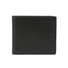 COACH 八卡全皮革對折短夾(黑色)