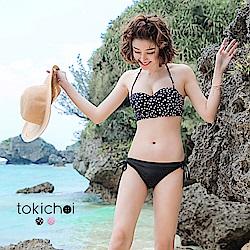 東京著衣 韓國同步復古馬甲泳裝上衣-S.M(共二色)