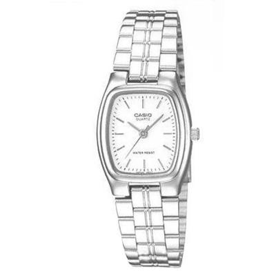 CASIO 酒桶造型指針淑女錶(LTP-1169D-7A)-白色/20x22mm