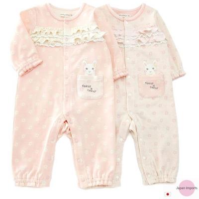 Japan Imports 蕾絲小花兔子長袖連身裝