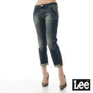 Lee 牛仔褲401 低腰七分直筒男友褲-女款(中古藍)