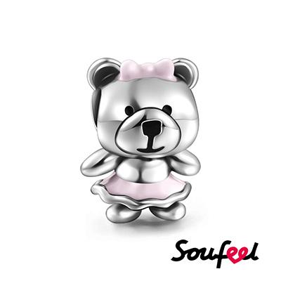 SOUFEEL索菲爾 925純銀珠飾 小熊 串珠