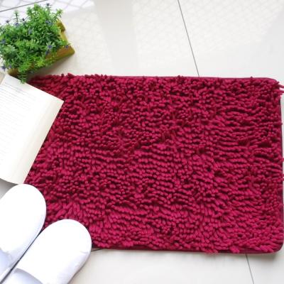 新一代 珊瑚絨毛地墊 酒紅色一個 60×40cm