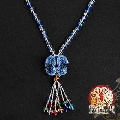 納財藍琉璃貔貅項鍊/吊墬