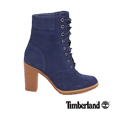 Timberland 女款深藍色絨面Glancy6吋靴