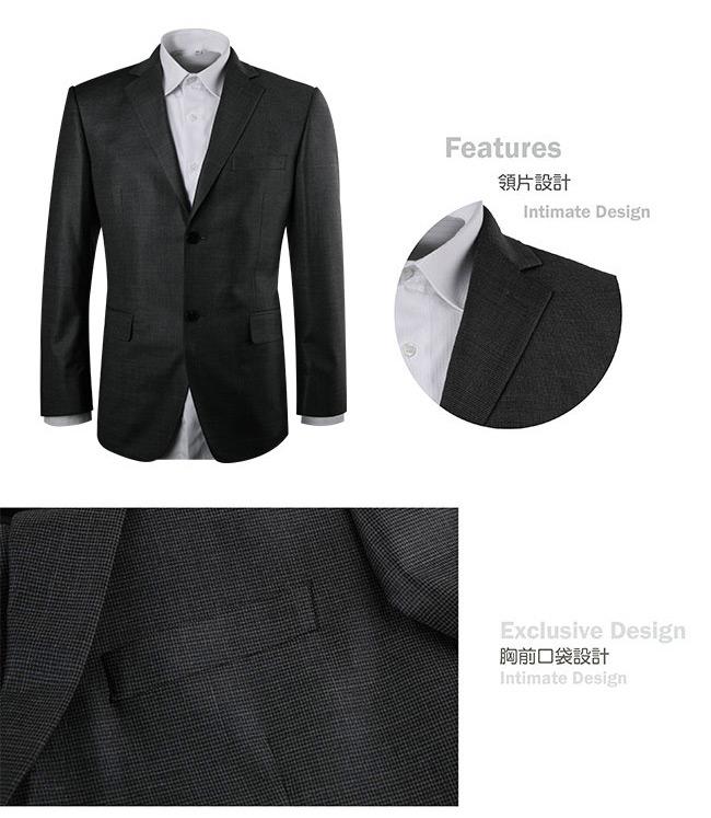 ROBERTA諾貝達 葡萄牙進口素材  紳士品味千鳥格紋獵裝 灰色