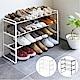 YAMAZAK-frame伸縮式三層鞋架-白-鞋架