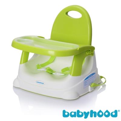 babyhood 咕咕兒童折疊餐椅 綠色款  附透明餐盤面紙盒