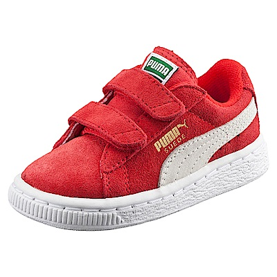 PUMA-Suede2straps PS孩童運動鞋-賽車紅
