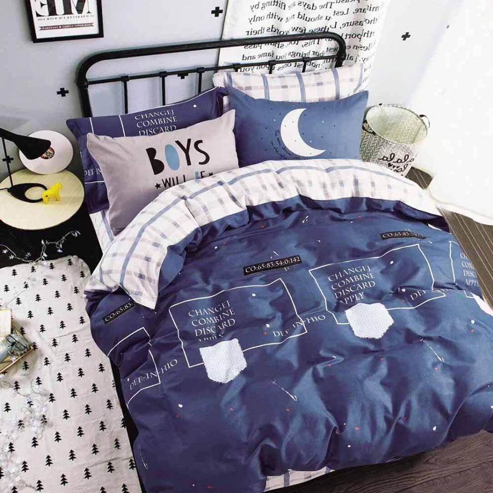 Ania Casa星月神話 雙人三件式 100%精梳棉 台灣製 床包枕套純棉三件組