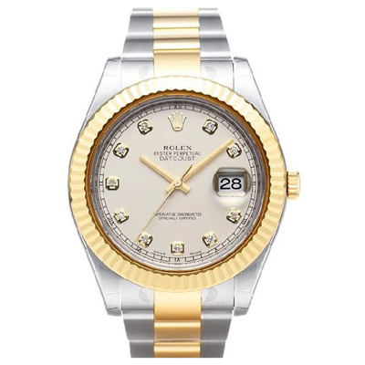 ROLEX 勞力士 Datejust II 116333 蠔式半金鑽面腕錶-象牙白/41mm