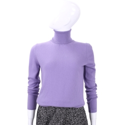 Andre Maurice  紫色高領針織上衣(100% CASHMERE)