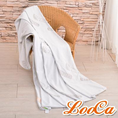 LooCa 親膚天絲3-6cm薄床墊布套-雙人拉鍊式