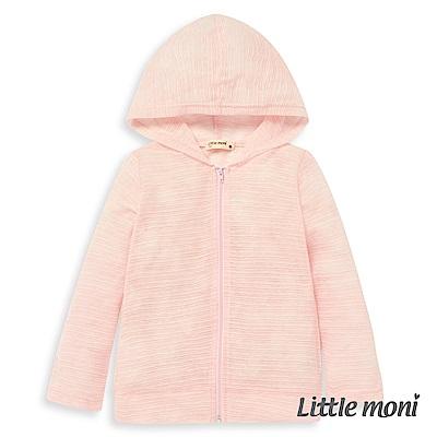 Little moni 糖果色連帽輕透條紋外套 (2色可選)