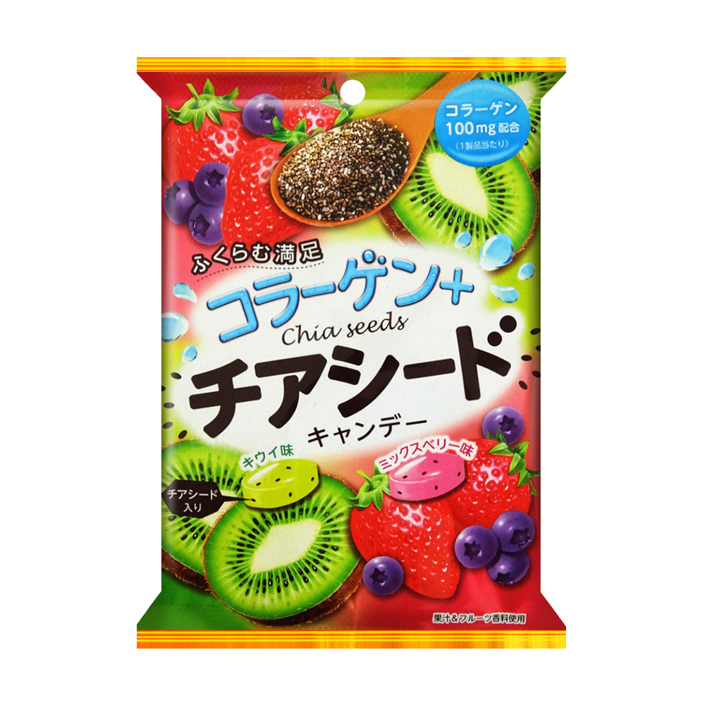 SENJAKU扇雀飴 膠原蛋白&奇亞籽糖(55g)