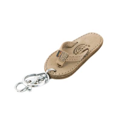Rainbow Sandals品牌限量經典拖鞋麂皮鑰匙圈-褐色