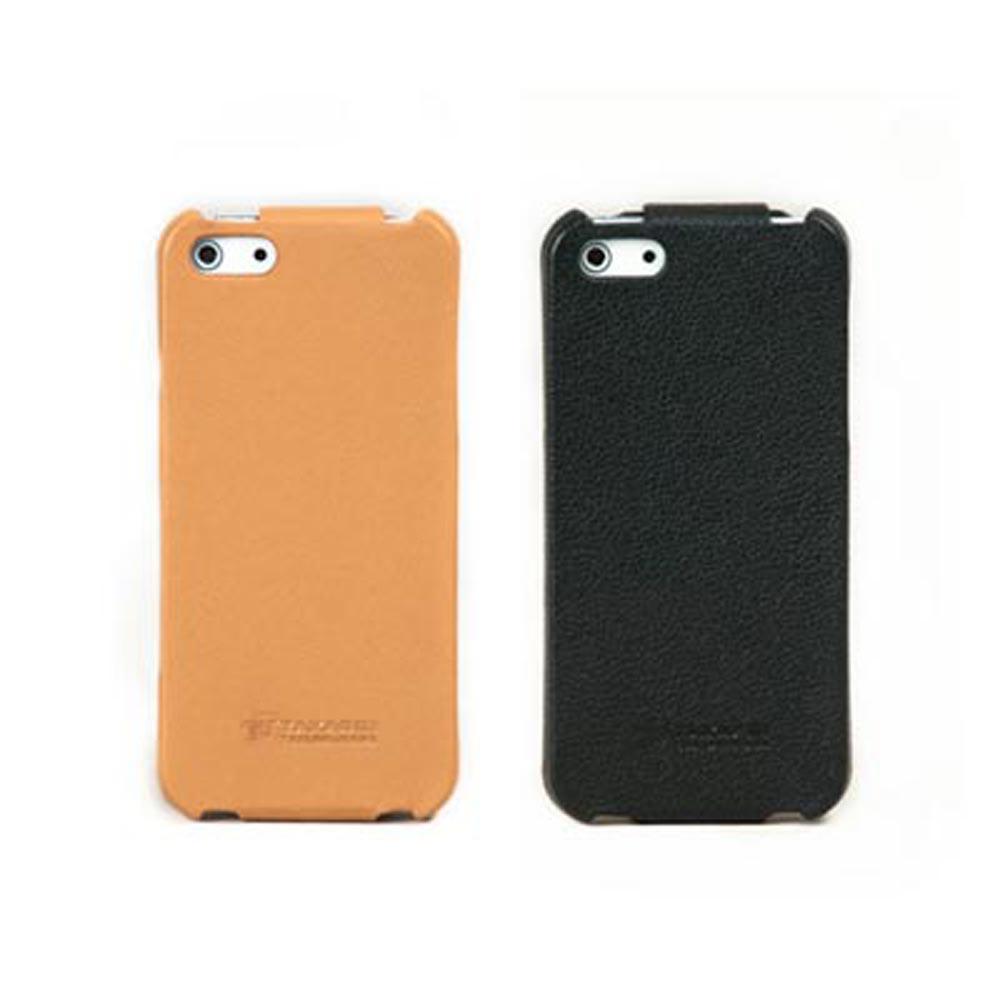 TAKASHI iPhone5/5S/SE 超薄下掀式硬殼真皮皮套