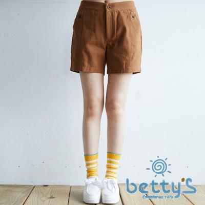 betty's貝蒂思 日系鈕扣短褲(棕色)
