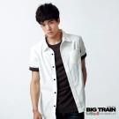 BIG TRAIN-素色短袖襯衫-牙白