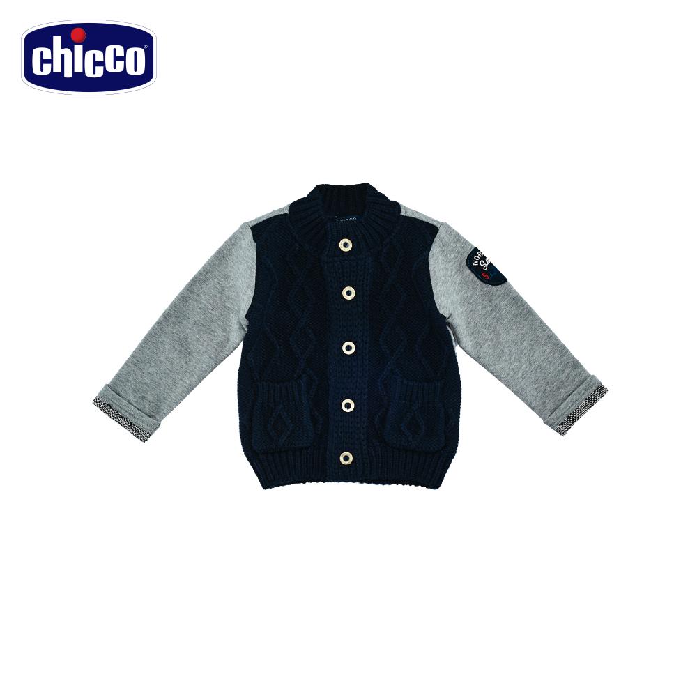 chicco航行拼接針織外套-青(12個月-4歲)