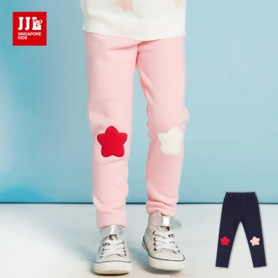 JJLKIDS 時尚星星內刷毛保暖內搭褲(2色)