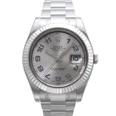 ROLEX  勞力士 Datejust II 116334 日誌型機械腕錶-銀x藍時標/41mm