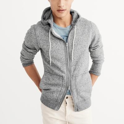 A&F 經典素色連帽外套-灰色 AF Abercrombie