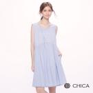 CHICA 歐風女孩質感花色面料設計小洋裝(2色)