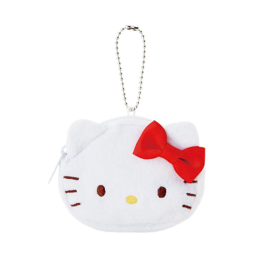 Sanrio HELLO KITTY大臉造型迷你收納包附鍊